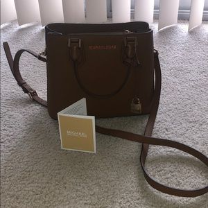 Tan/Brown Michael Kors Small Leather Handbag